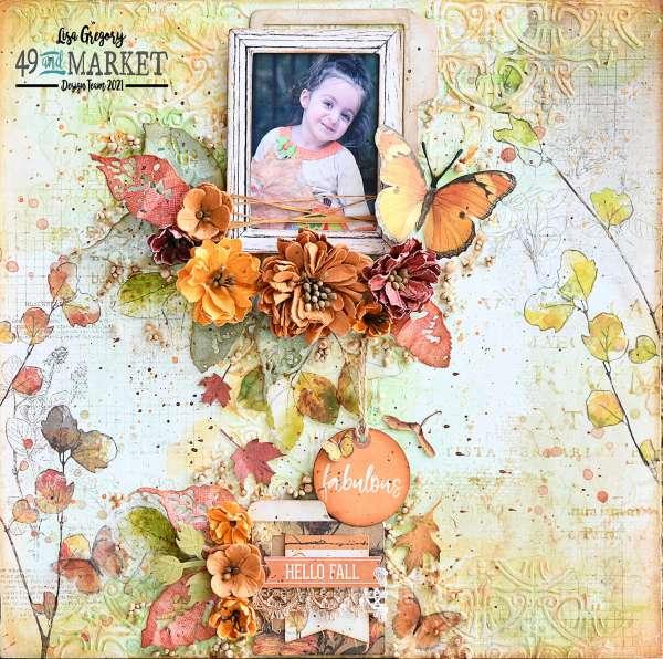 Fall Foliage Mixed Media Layout