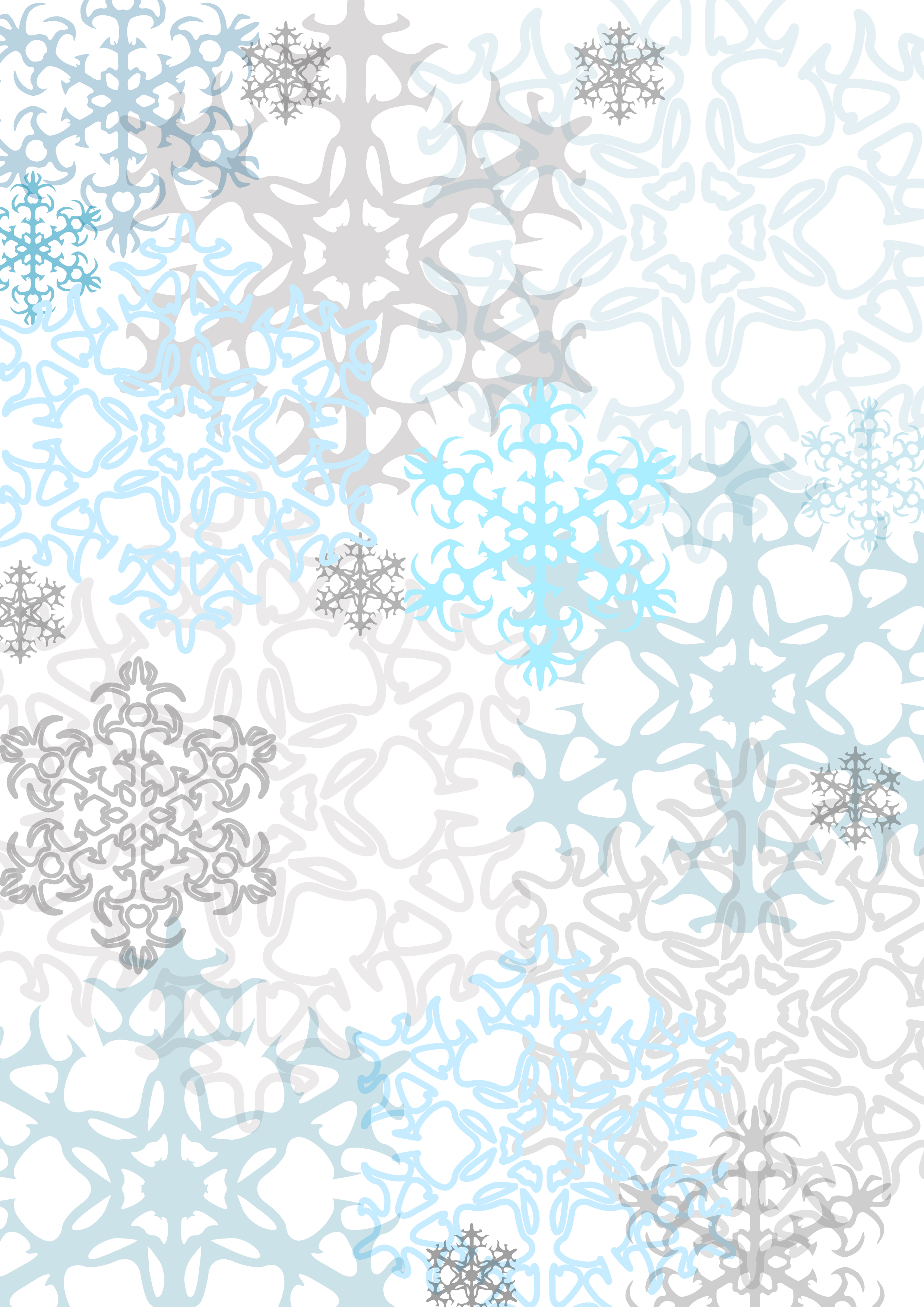 Paper Frames Snowflakes And Scrapbook Paper