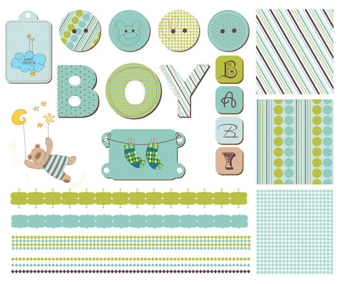 Cute-cartoon-scrap-bear-boy-eps-Vector