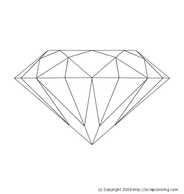 diamond coloring page