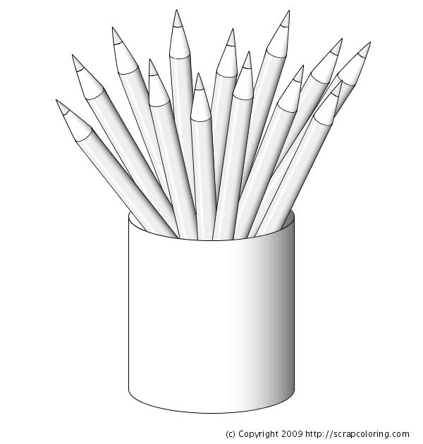 Pencils Coloring Page