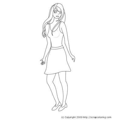 Fashion Coloring Page