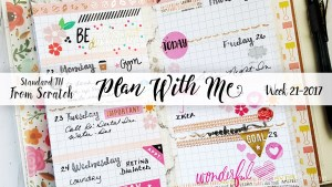 """Week 21-2017 / Plan With Me """"From Scratch"""" Traveler's Notebook Standard Size"""