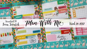 "Week 26-2017 / Plan With Me ""From Scratch"" Traveler's Notebook Standard Size"