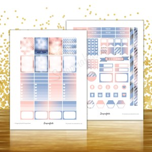 2016 Colors of the Year Printable Planner Stickers for Erin Condren (EC) Life Planner