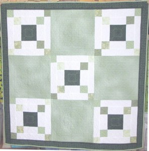 Double Irish Chain Quilt Wall Hanging