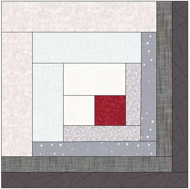 What S Black And White With A Red Binding A Log Cabin Quilt Scrapdash
