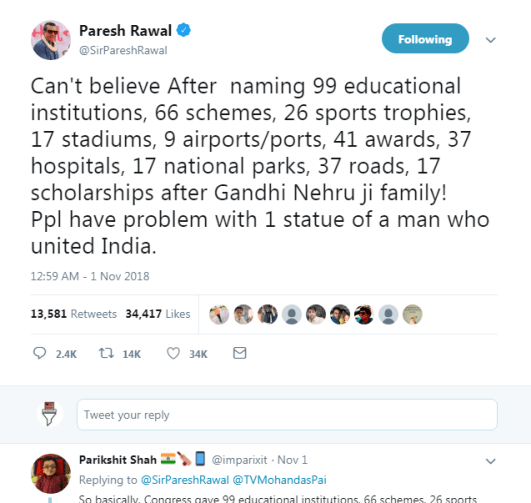 The statue of unity: Paresh Rawal trolled 2