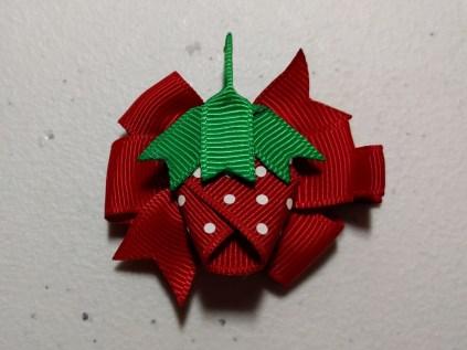 "Strawberry on 5/8"" Red Pinwheel"
