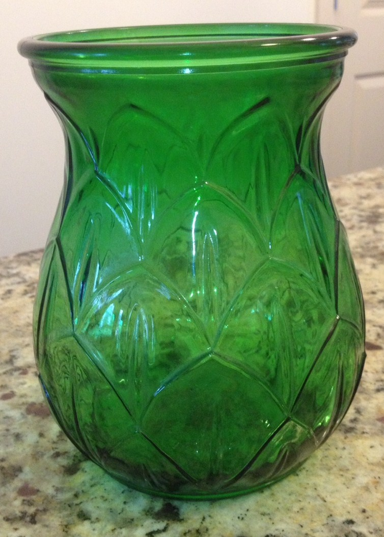 Antique pickin the green depression glass vase scrappymags 1937 green depression glass vase reviewsmspy