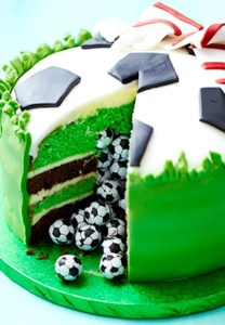 http://www.bbcgoodfood.com/recipes/surprise-pinata-football-cake