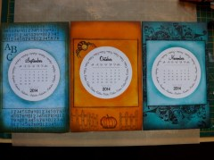 Use a CD calendar cut larger and adorn with stamps and inks