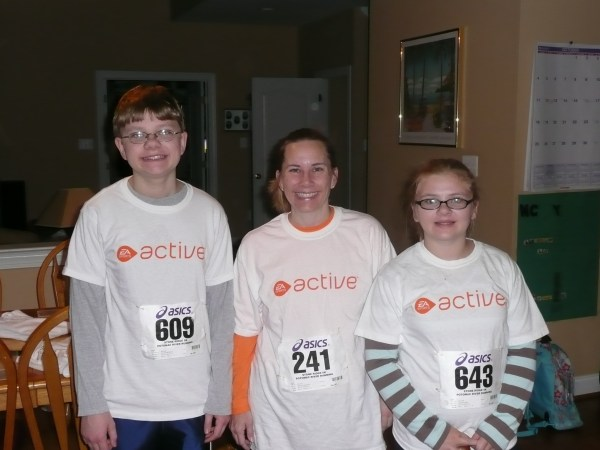 running a 5k with your kids