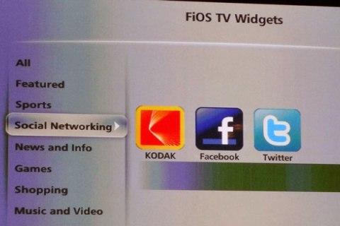 Verizon Fios Widgets Categories