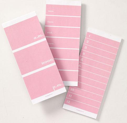 momAgenda List Pads Pink