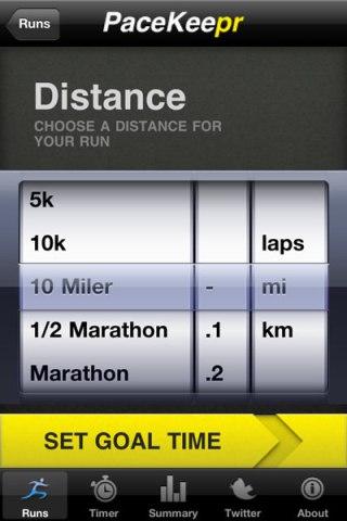 Pacekeepr half marathon training