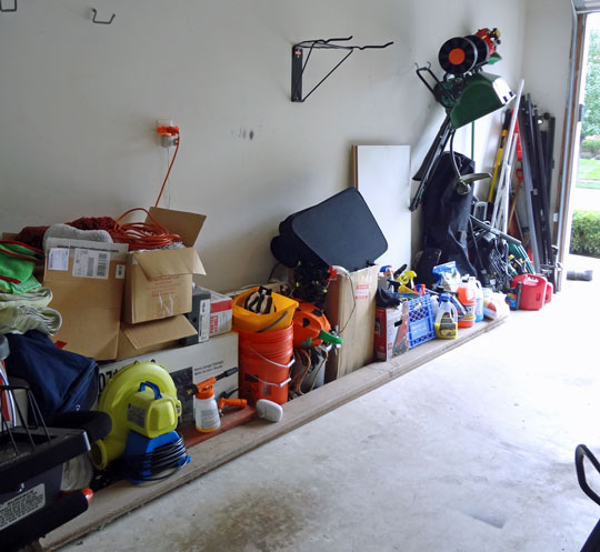 Before - garage makeover