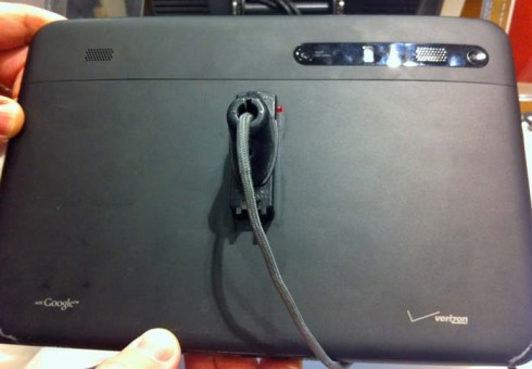 back of Motorola xoom