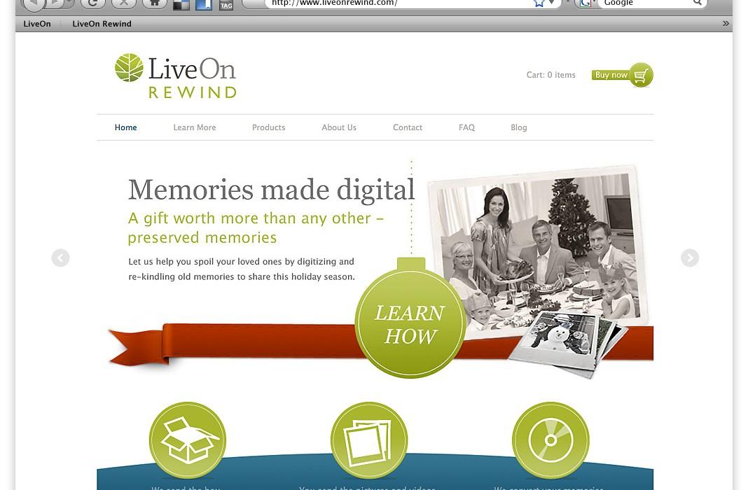 LiveOn Rewind preserve memories forever