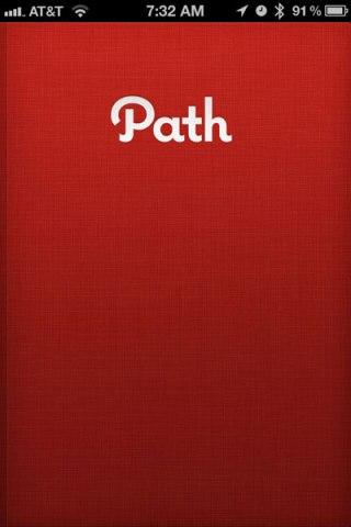 path opening screen