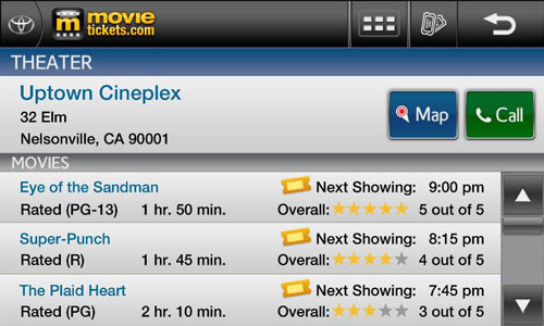 movietickets entune
