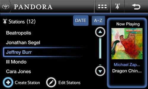 Pandora on entune