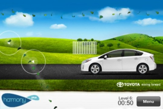 Harmoney game on toyota app for iphone Prius