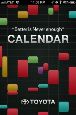Toyota calendar iphone app
