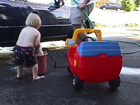 washing Toyota Camry