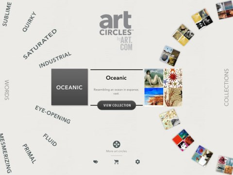 artcircles ipad app oceanic collection words