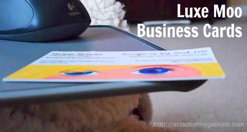 Luxe Moo Business Cards ScrapinMichele