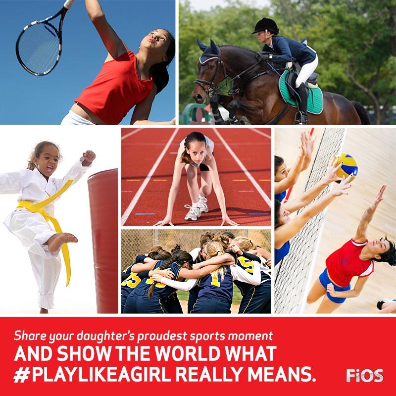 Play Like A Girl Verizon FiOS contest
