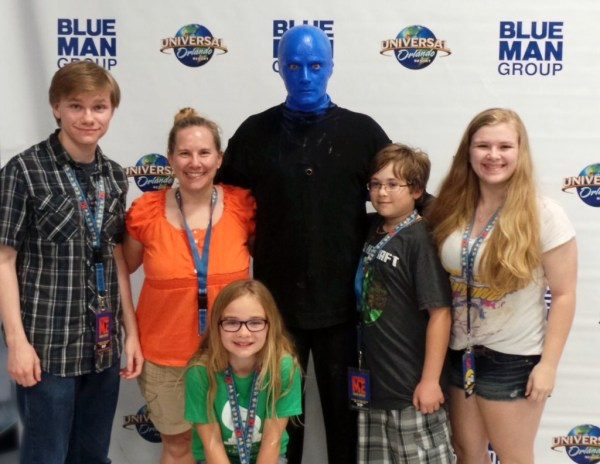 McGraw family with Blue Man Group