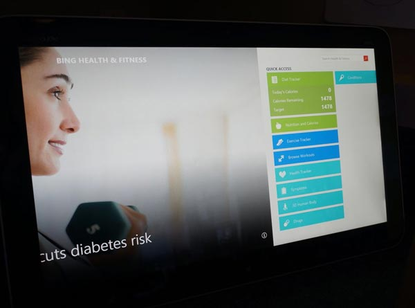 Bing Health & fitness to track weight loss goals