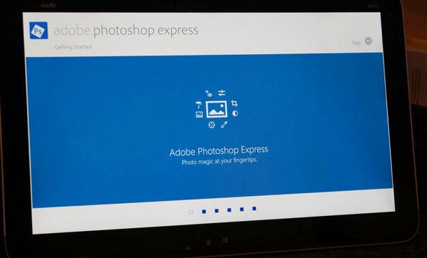 Adobe Photoshop Express on #IntelAIO