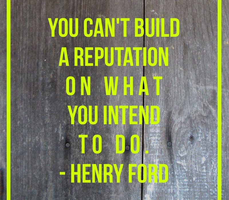building reputation quote