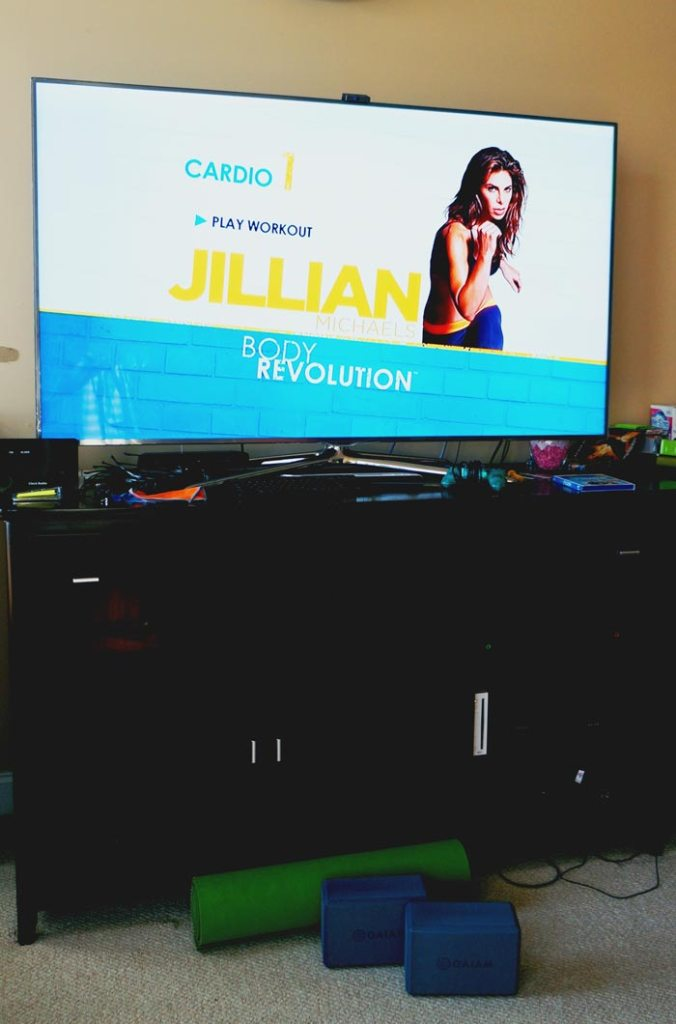 Working out with Jillian Michaels