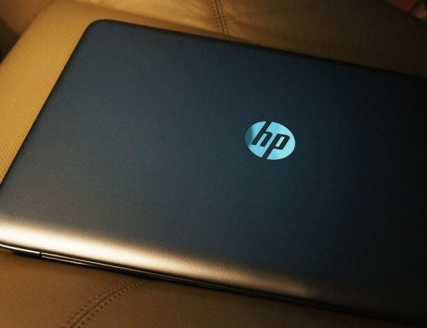 HP ENVY Touchsmart Sleekbook in the car