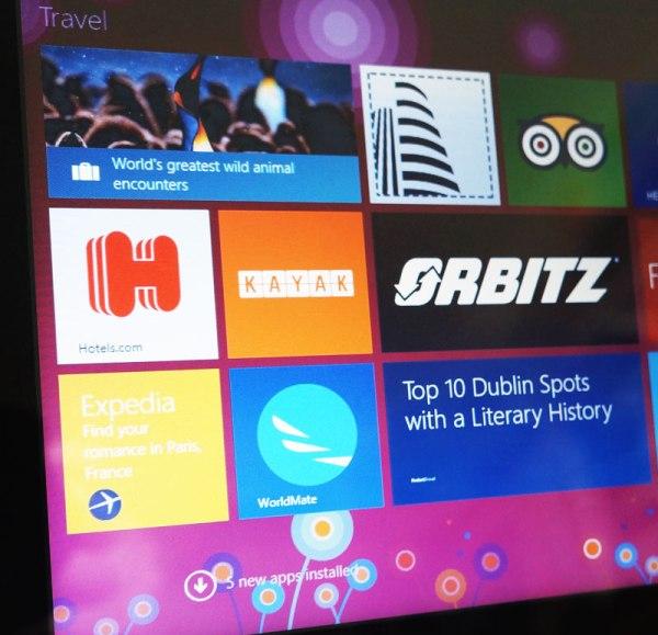 travel apps on Windows 8