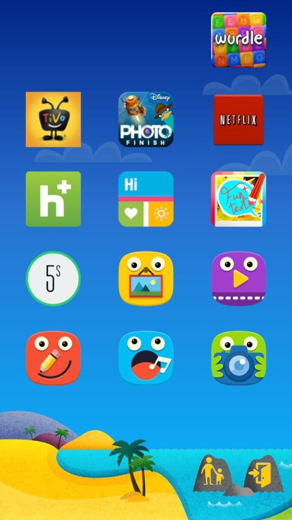 Kids Mode with applications