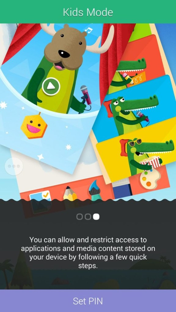 Set your PIN on the Kids Mode in Samsung Galaxy S5