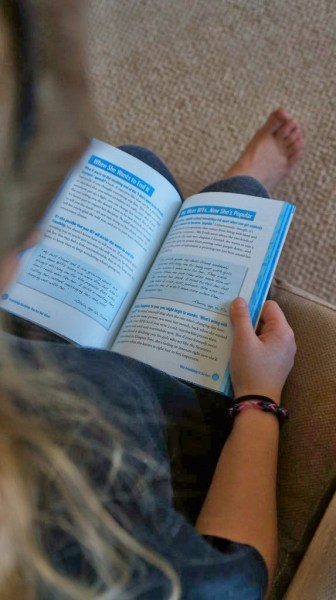 children and teens reading books
