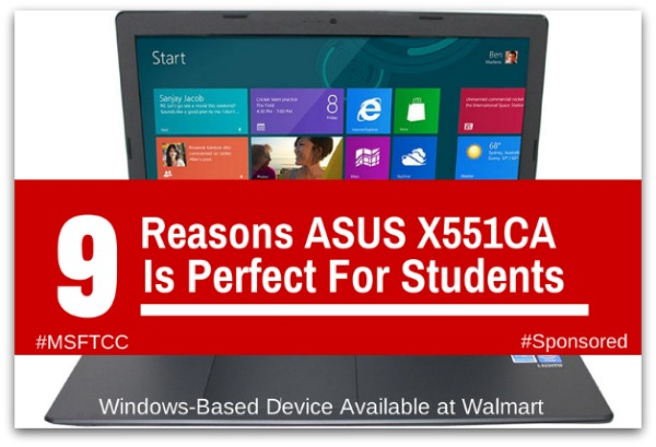 Windows Laptops available at Walmart; ASUS X551 Laptop for Students #BacktoSchool #MSFTCC