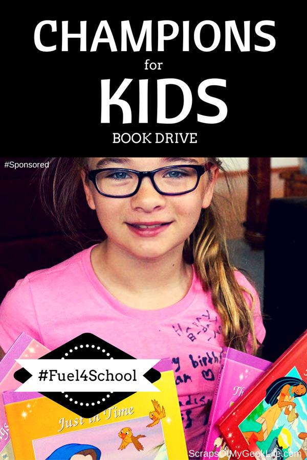 Champions for Kids has partnered with the Kellogg Company on the #Fuel4School community projects. #Fuel4School is a simple way for you to organize a book drive and donate them to a local organization that serves children in need.