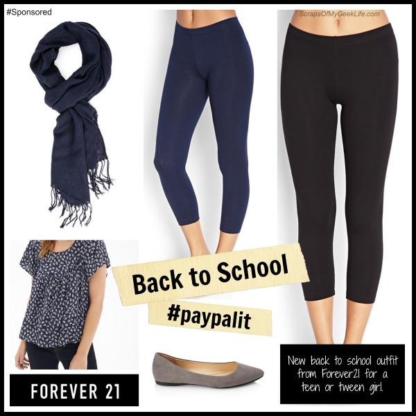 Back to School: Teen/Tween outfit from Forever 21 using PayPal to purchase. #paypalit