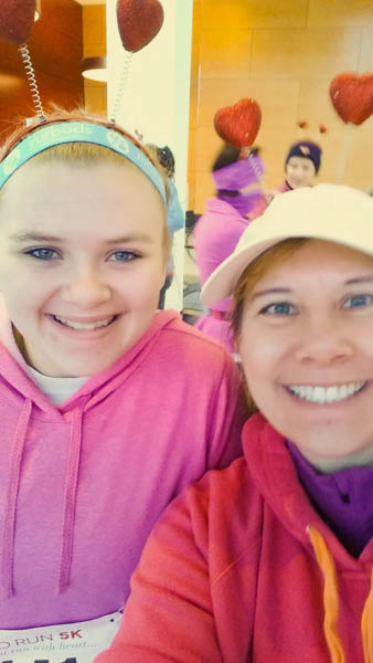 Running a half marathon with my 15 year old daughter.