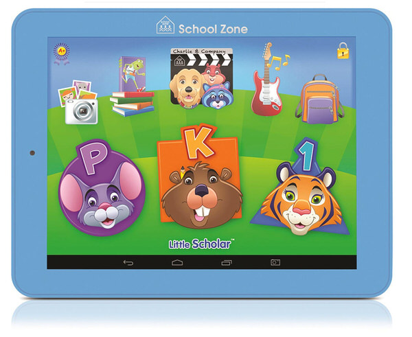 Little Scholar Android tablet from School Zone comes loaded with over 200 apps, books, songs and videos. Great tool for kids ages 3 to 7 to learn.
