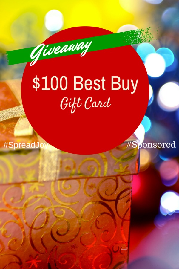 Holiday #Giveaway $100 Best Buy Gift Card #SpreadJoy