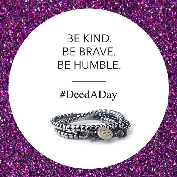 An amazing bracelet & movement: #DeedADay is not for the unkind. Proud to support @The1GDBracelet: http://bit.ly/100GDdeedADay
