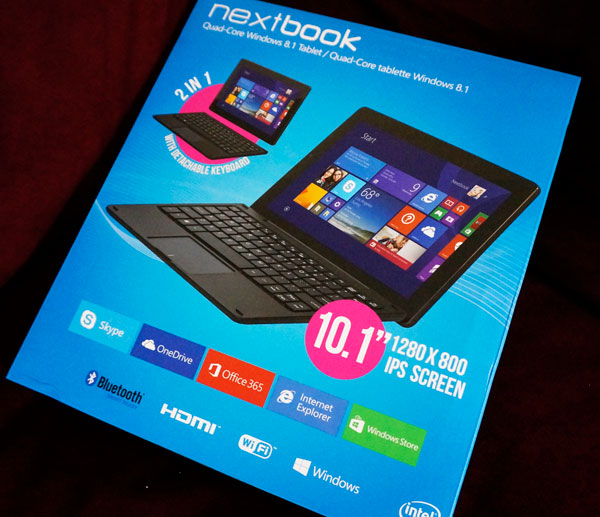Nextbook 10.1 with Intel available at Walmart #UnwrapINTEL